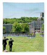 Corps Of Cadets Present Arms Fleece Blanket