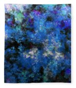 Corrosion Bleue Fleece Blanket