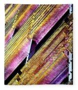 Corrugated Music Fleece Blanket