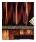 Corrugated Steel Mill Wall Alton Il Fleece Blanket