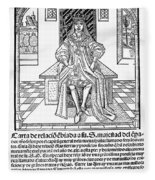 Cortes Letter, 1522 Fleece Blanket
