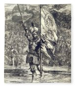 Cortez Claiming Mexico For Spain, 1519 Fleece Blanket