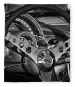 Corvette Cockpit Fleece Blanket
