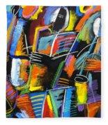 Cosmic Birth Of Jazz Fleece Blanket