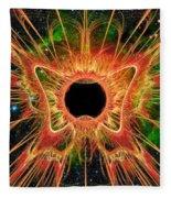 Cosmic Butterfly Phoenix Fleece Blanket by Shawn Dall