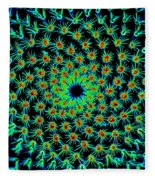 Cosmic Cacti In Spokane Fleece Blanket