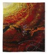 Cosmic Contact Fleece Blanket