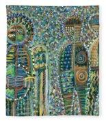 Cosmic Creation Of Adam And Eve Fleece Blanket