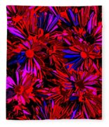 Cosmic Flower Wall Fleece Blanket