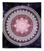 Cosmic Medallions Fire Fleece Blanket by Shawn Dall