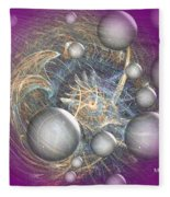 Cosmic Purple Fleece Blanket
