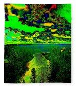 Cosmic River 2 Fleece Blanket