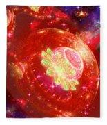 Cosmic Space Station Fleece Blanket