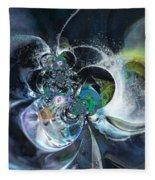 Cosmic Spider Fleece Blanket