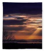 Cosmic Spotlight On Shannon Airport Fleece Blanket