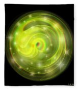 Cosmic Swirl - Use Red-cyan Filtered 3d Glasses Fleece Blanket