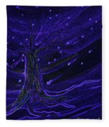 Cosmic Tree Blue Fleece Blanket
