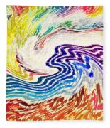 Cosmic Waves Fleece Blanket