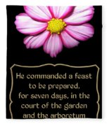 Cosmos Flower With Bible Quote From Esther Fleece Blanket