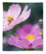 Cosmos Sensation - Fiori Rosa Fleece Blanket