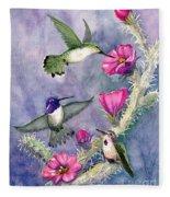 Costa Hummingbird Family Fleece Blanket