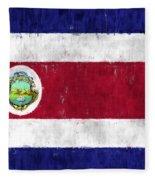Costa Rica Flag Fleece Blanket