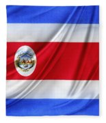 Costa Rican Flag Fleece Blanket