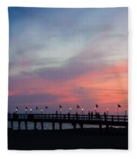 Costa Rican Sunset Fleece Blanket