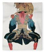 Costume Design For A Chinaman Fleece Blanket