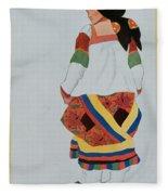 Costume Design For A Peasant Girl, 1922 Fleece Blanket