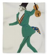 Costume Design For Paganini In The Enchanted Night Fleece Blanket