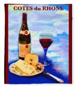Cotes Du Rhone Fleece Blanket