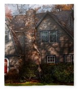 Cottage - Cranford Nj - Autumn Cottage  Fleece Blanket