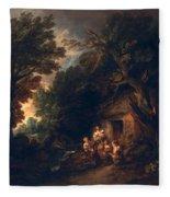 Cottage Door, C.1780 Fleece Blanket