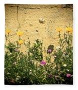 Cottage Garden Fleece Blanket