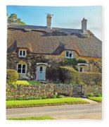Cottage Of The Cotswolds Fleece Blanket