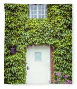 Cottage With Ivy Fleece Blanket