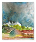 Cottages In Brittany Fleece Blanket