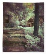 Cottages In The Woods Fleece Blanket