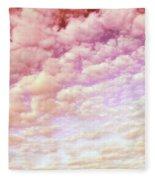 Cotton Candy Sky Fleece Blanket