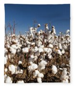Cotton Fields Fleece Blanket