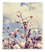 Cotton In The Sky With Filter Fleece Blanket