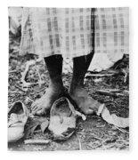 Cotton Picker, 1937 Fleece Blanket