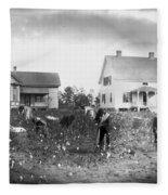 Cotton Picking, 1902 Fleece Blanket