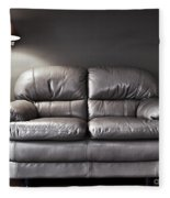 Couch And Lamp Fleece Blanket