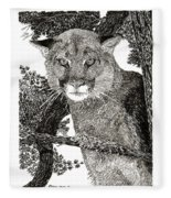 Cougar From Colorado Fleece Blanket