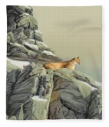 Cougar Perch Fleece Blanket