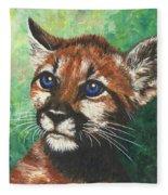 Cougar Prince Fleece Blanket