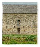 Council Grove Kansas Stone Barn Fleece Blanket