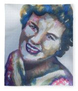 Country Artist Patsy Cline Fleece Blanket